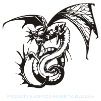 Dragón amenazante