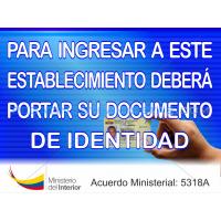 Documento de identidad 40 x 30 cm