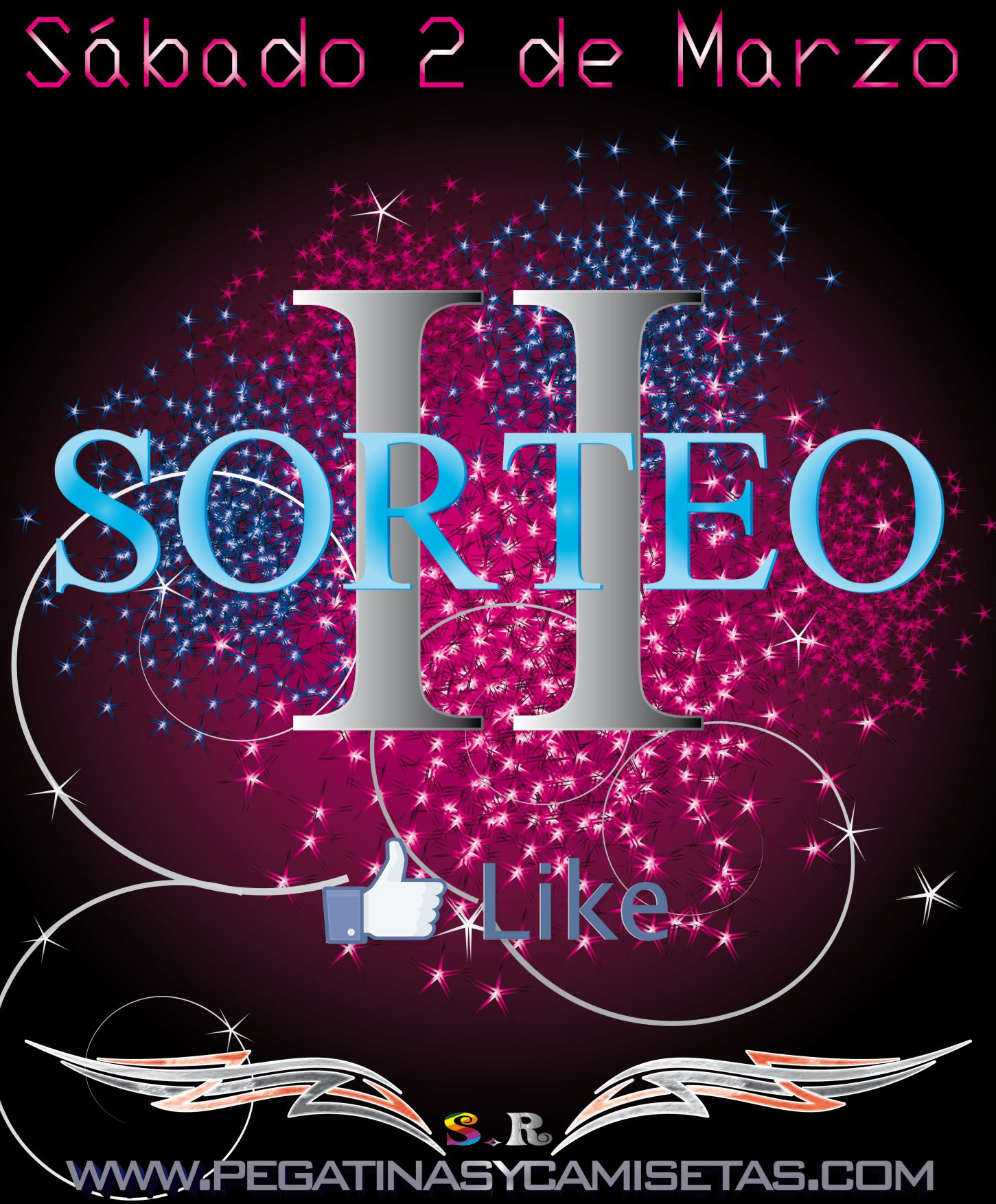 II Sorteo www.pegatinasycamisetas.com fan page